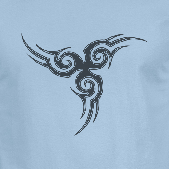Buy Tribal Tattoo Triskellion Celtic Viking Pagan Graphic Light Blue Tee Shirt