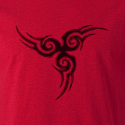 Tribal Tattoo Triskellion Celtic Viking Pagan Graphic Red Tee Shirt