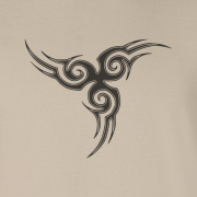 Tribal Tattoo Triskellion Celtic Viking Pagan Graphic Sand Tee Shirt