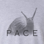 Buy Snail Pace Funny Animal Sports Graphic Tee Shirt Grey