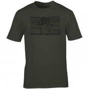 Ethereal Black Hand Graphic Charcoal Tee Shirt