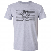 Ethereal Black Hand Graphic Grey Tee Shirt