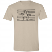 Ethereal Black Hand Graphic Sand Tee Shirt