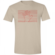 Ethereal Red Hand Graphic Sand Tee Shirt