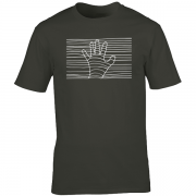 Ethereal White Hand Graphic Charcoal Tee Shirt