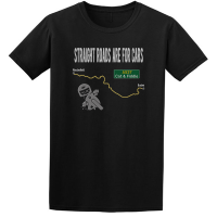 Buy Straight Roads Cat and Fiddle Motorcycle Graphic Sport Black Tee Shirt