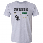 Straight Roads Cat and Fiddle Motorcycle Graphic Sport Grey Tee Shirt