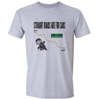 Buy Straight Roads Snake Pass Motorcycle Graphic Sport Grey Tee Shirt