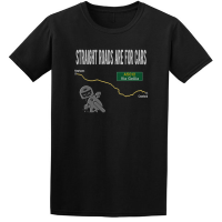 Buy Straight Roads Via Gellia Motorcycle Graphic Black Tee Shirt