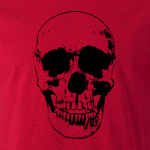 Buy Evil Grin Skull Occult Psycho Death Graphic Tee Shirt sand