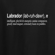 Labrador Quote Graphic Black Tee Shirt
