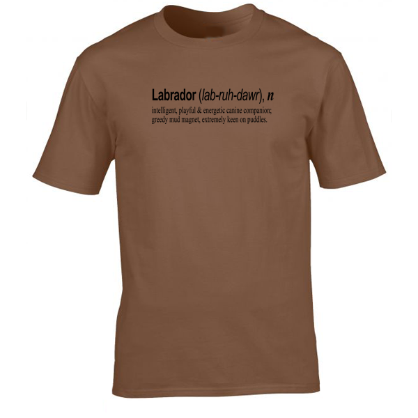 Buy Labrador Quote Graphic Brown Tee Shirt