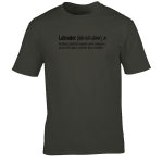 Buy Labrador Quote Graphic Charcoal Tee Shirt