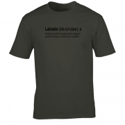 Labrador Quote Graphic Charcoal Tee Shirt
