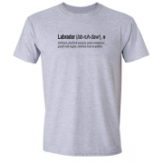 Labrador Quote Graphic Grey Tee Shirt