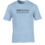 Labrador Quote Graphic Blue Tee Shirt