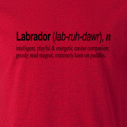 Labrador Quote Graphic Red Tee Shirt