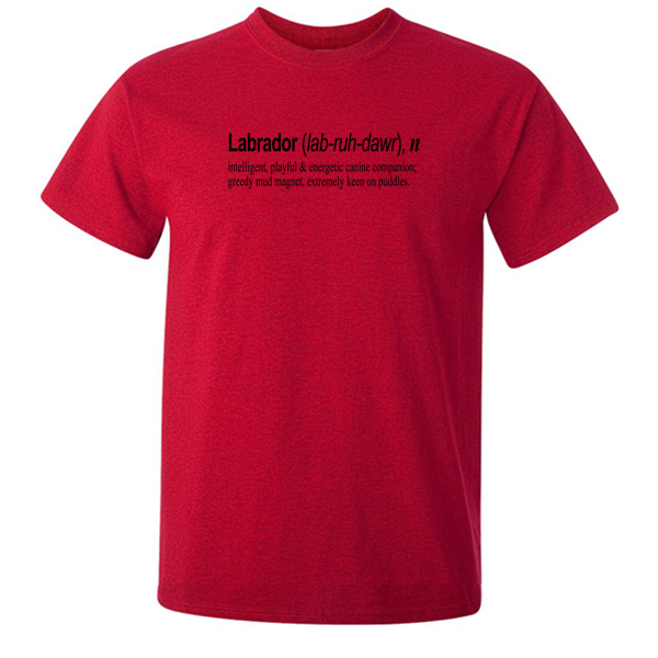 Buy Labrador Quote Graphic Red Tee Shirt