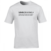 Labrador Quote Graphic White Tee Shirt