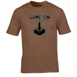 Buy Game On Atari Joy Stick video game Graphic Tee Shirt brown