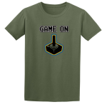 Buy Game On Atari Joy Stick video game Graphic Tee Shirt green