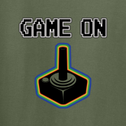 Game On Atari Joy Stick video game Graphic Tee Shirt green