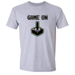 Buy Game On Atari Joy Stick video game Graphic Tee Shirt grey