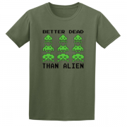 Space Invaders video game Graphic Tee Shirt green