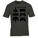 Buy Joystick Three Lives video game Graphic Tee Shirt charcoal