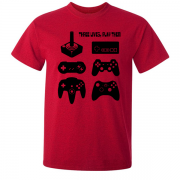 Joystick Three Lives video game Graphic Tee Shirt red