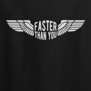 Faster than you Motorcyclist speed biker Graphic Black Tee Shirt