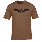 Faster than you Motorcyclist speed biker Graphic Brown Tee Shirt