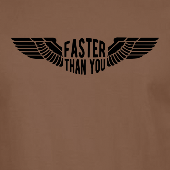 Buy Faster than you Motorcyclist speed biker Graphic Brown Tee Shirt