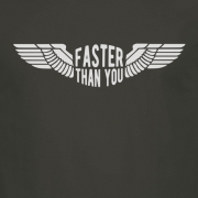 Faster than you Motorcyclist speed biker Graphic Charcoal Tee Shirt