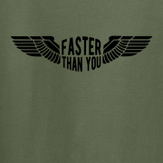 Faster than you Motorcyclist speed biker Graphic Green Tee Shirt
