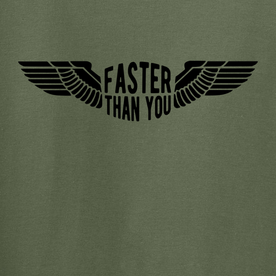 Buy Faster than you Motorcyclist speed biker Graphic Green Tee Shirt