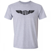 Faster than you Motorcyclist speed biker Graphic Grey Tee Shirt