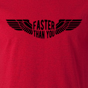 Faster than you Motorcyclist speed biker Graphic Red Tee Shirt