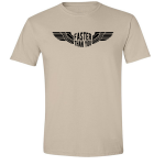 Buy Faster than you Motorcyclist speed biker Graphic Sand Tee Shirt