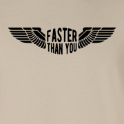 Faster than you Motorcyclist speed biker Graphic Sand Tee Shirt