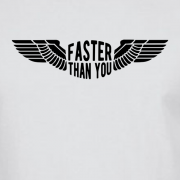 Faster than you Motorcyclist speed biker Graphic White Tee Shirt