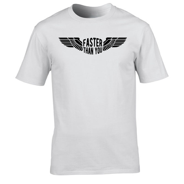 Buy Faster than you Motorcyclist speed biker Graphic White Tee Shirt