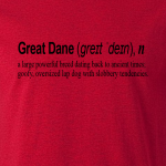 Buy Great Dane Dog Funny Quote Graphic Red Tee Shirt