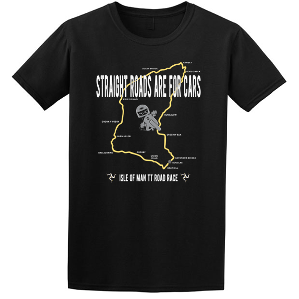 Buy Isle of Man Mountain Road Race Motor Cycle Graphic T Shirt black