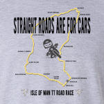 Buy Isle of Man Mountain Road Race Motor Cycle Graphic T Shirt grey
