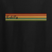 Edify Retro Stripe 70s Graphic black Tee Shirt