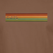 Edify Retro Stripe 70s Graphic chestnut brown Tee Shirt
