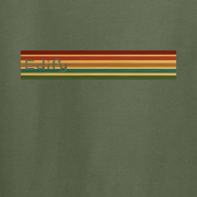 Edify Retro Stripe 70s Graphic green Tee Shirt
