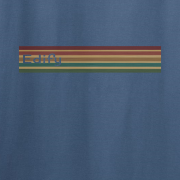 Edify Retro Stripe 70s Graphic Indigo Blue Tee Shirt