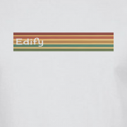 Edify Retro Stripe 70s Graphic White Tee Shirt